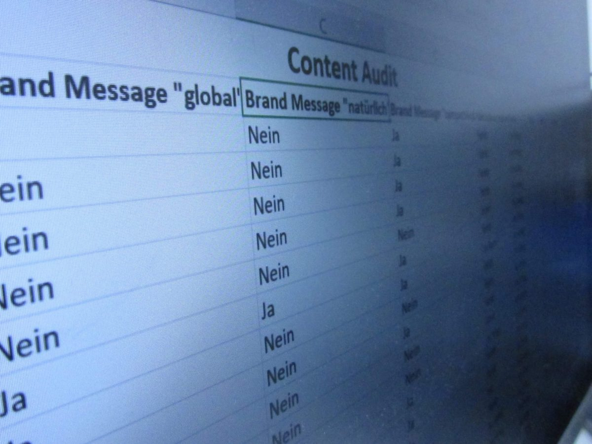 Tabelle Content Audit